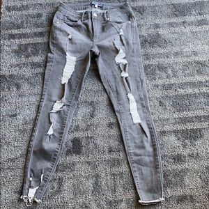 BoomBoom Grey ripped skinny jeans